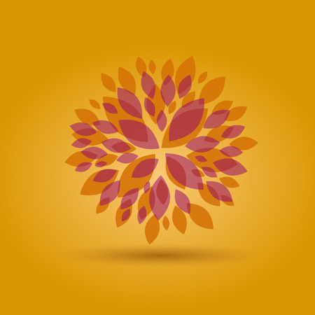 Foto per Vector Autumn Floral background - Immagine Royalty Free