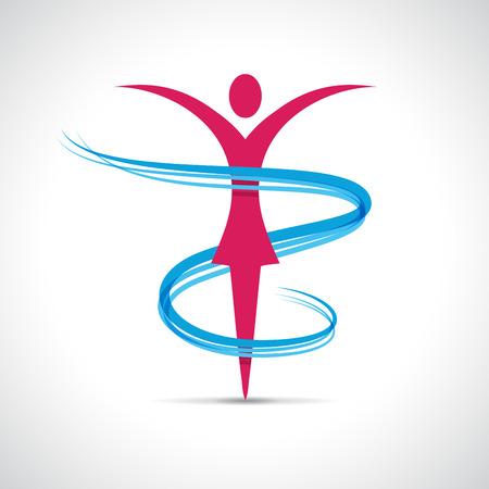 Ilustración de Vector abstract girl dancing - Imagen libre de derechos