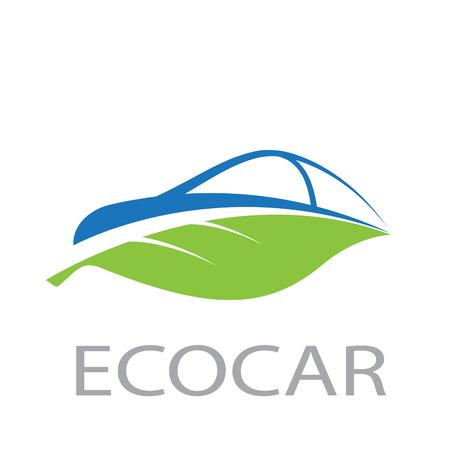 Illustration pour Vecto abstract eco car - image libre de droit