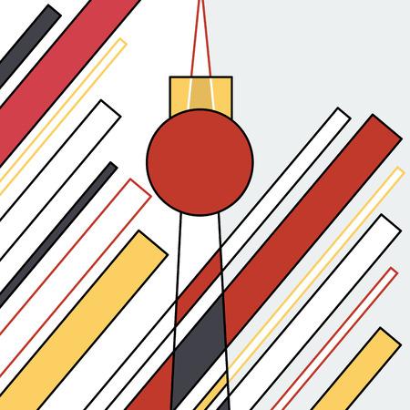Abstract geometric artwork, Alexander Platz, Berlin