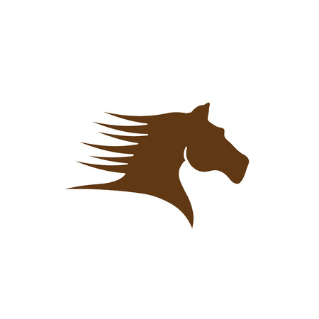 Vector sign brown horse