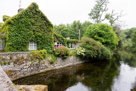 Landascapes of Ireland. Cottage of Cong in Galway county