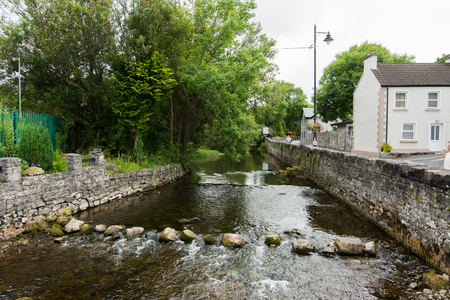 Landscapes of Ireland. The river of Cong in Galway county