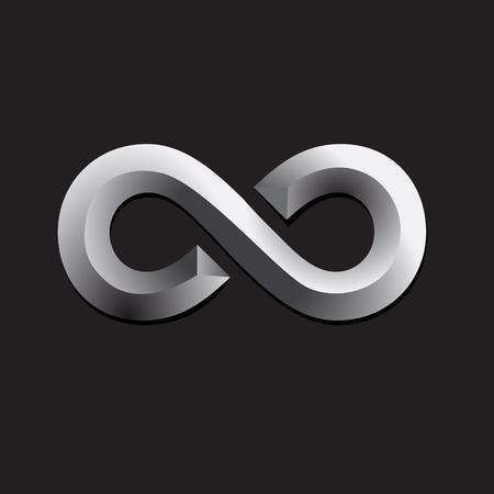 Ilustración de Vector  infinite. Teamwork and union concept - Imagen libre de derechos