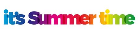 Illustration pour The word its Summer time. - image libre de droit