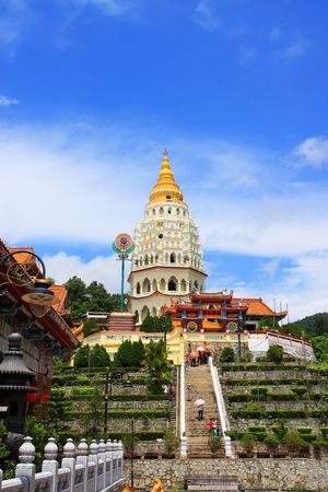 Scenery view of Kek Lok Si Temple, which located in Penang, Malaysia.
