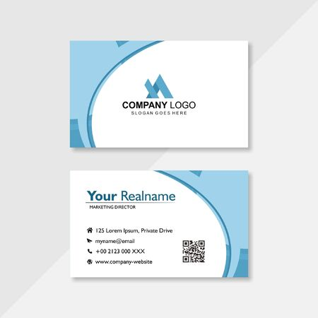 Illustration for business card in clear white - Royalty Free Image