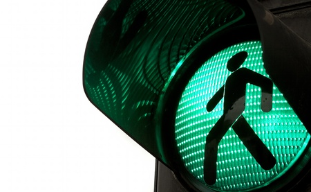 Photo for Traffic lights with the green light lit. - Royalty Free Image