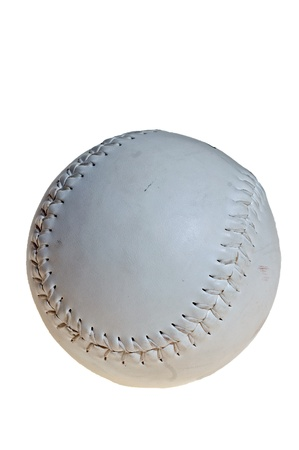 Isolated baseball ball in whit backgroundの写真素材