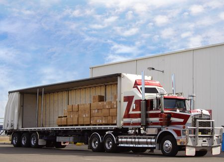Photo for Truck with cargo - Royalty Free Image