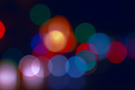 Photo pour holiday bright bokeh blurred colorful background. Christmas colors in light spots. blurred - image libre de droit
