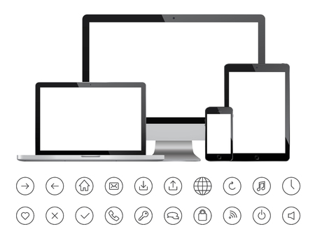 Mobile devices and minimalistic icons