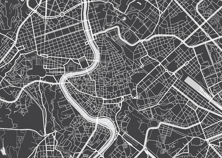 Vector detailed map Rome