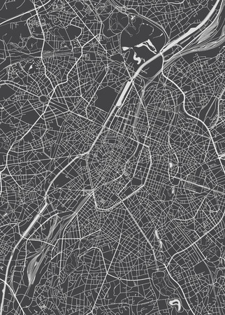 Brussels city plan, detailed vector map