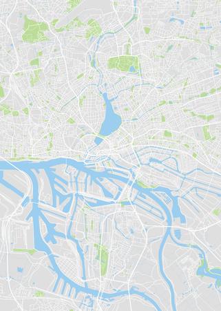 Ilustración de Hamburg colored vector map - Imagen libre de derechos