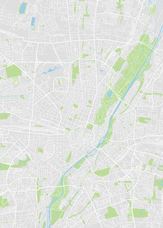 Ilustración de Munich colored vector map isolated on gray background. - Imagen libre de derechos