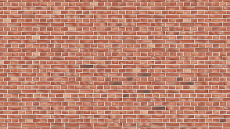 Illustration for Background of red brick wall seamless vector pattern backdrop for design - Royalty Free Image