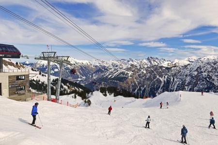 Slopes of Fellhorn are a popular ski resort in winter
