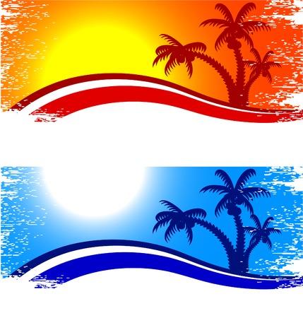 Illustration pour Tropical abstract backdrop. Vector illustration.  - image libre de droit