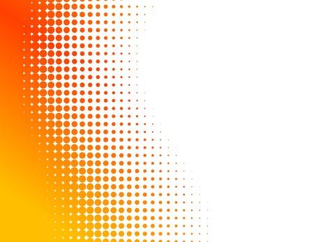 Orange half-tone background. Vector illustration.