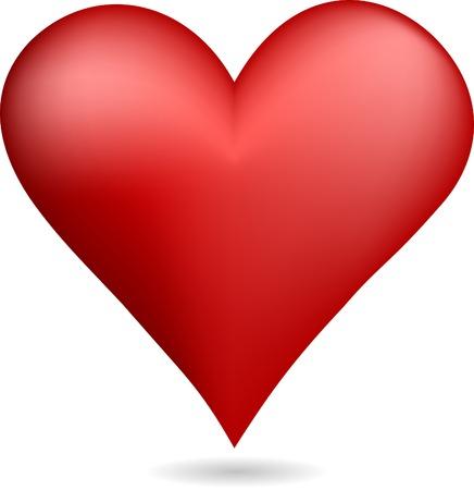 Red heart symbol. Vector illustration.