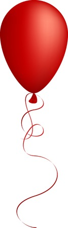 Realistic red balloon. Used mesh.