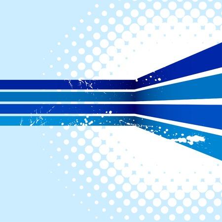 Blue half-tone background. Vector illustration.