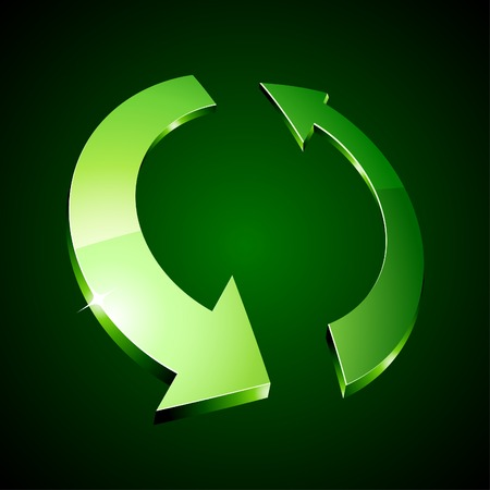 3d recycle symbol. Vector illustration.