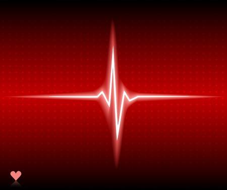 Red heart bear. Vector illustration.