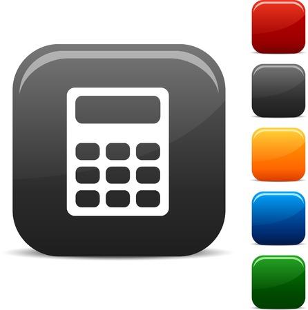 Calculate icon set. Vector illustration.