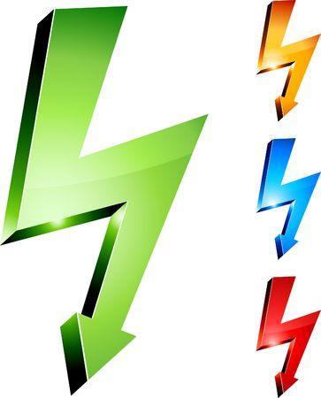 Electricity warning symbols.