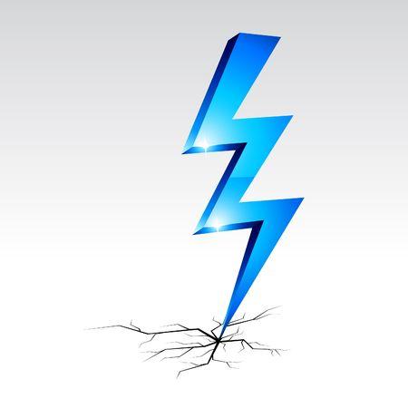Illustration pour Electricity warning symbol.  illustration.  - image libre de droit