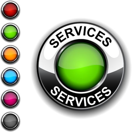 Services realistic button.