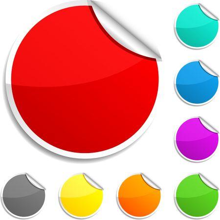 Illustration pour Set of round glossy stickers. - image libre de droit