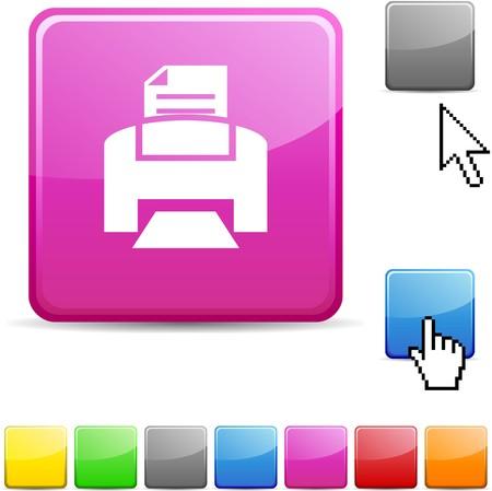 Print glossy vibrant web icon.