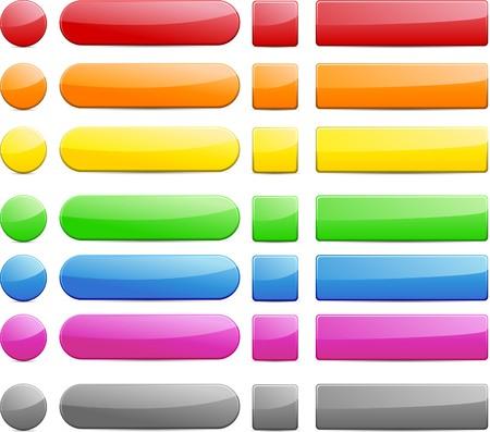 Illustration pour Blank web glossy buttons.  - image libre de droit