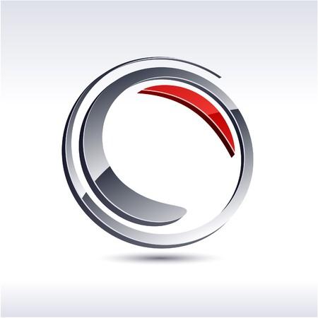 Abstract modern 3d swirl logo. Vector.