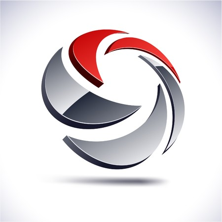 Abstract modern 3d swirl logo.