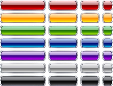 Long and short rectangular buttons.