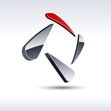 Illustration pour Abstract modern 3d square logo.  - image libre de droit