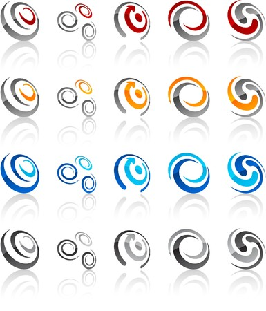 illustration of swirl symbols.