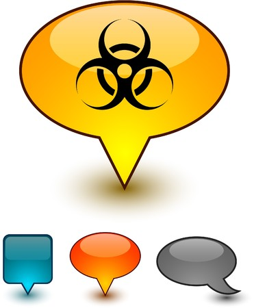 Virus glossy speech   icons.