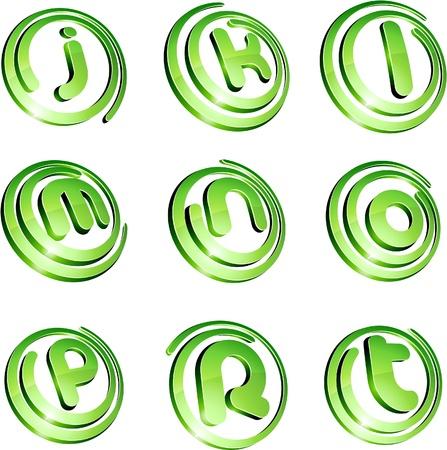 Set of 3d letter  signs.