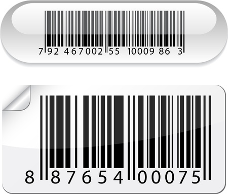 illustration of barcode buttons.