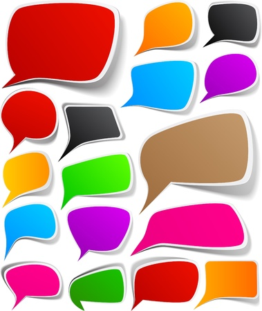 Illustration for illustration of paper speech backgrounds.  - Royalty Free Image