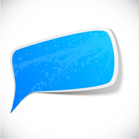 Illustration for illustration of Blue paper splash speech.  - Royalty Free Image