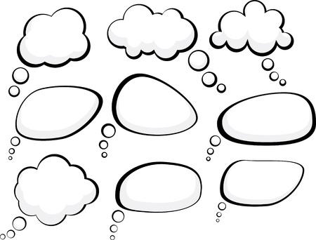 Illustration pour Set of comic style speech bubbles.  - image libre de droit