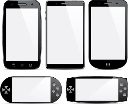 Vector collection of Concept communicators. Large touchscreen.