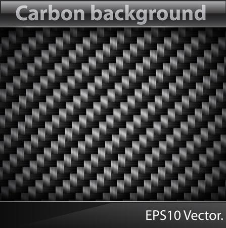 Vector illustration of realistic Carbon fiber texture.