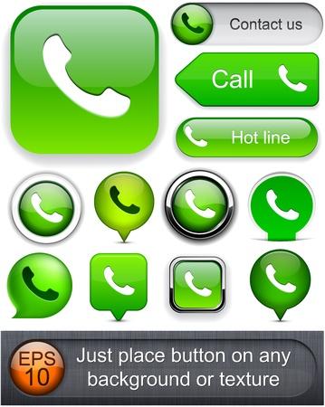 Phone green design elements for website or app